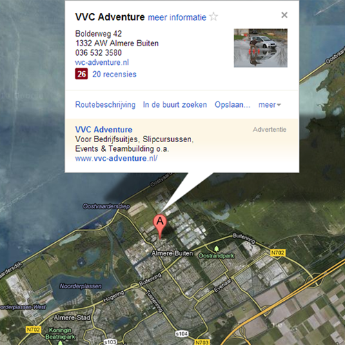 Locatie VVC Partyhouse en VVC Adventure