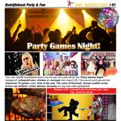 Themafeest Party Night Games!